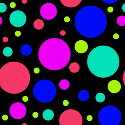 Click to get the codes for this image. Multi Colored Dots On Black Background Seamless, Circles, Polka Dots Background Wallpaper Image or texture free for any profile, webpage, phone, or desktop