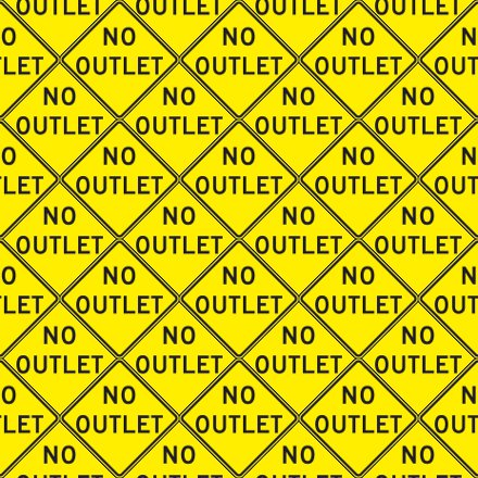 Click to get the codes for this image. No Outlet Signs Background Seamless, Street Signs, Yellow Background Wallpaper Image or texture free for any profile, webpage, phone, or desktop