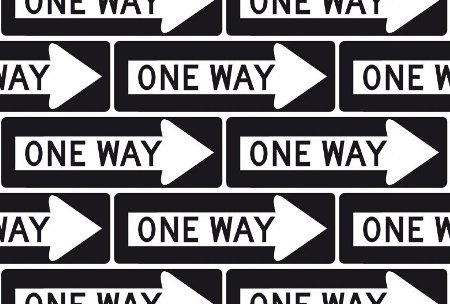 Click to get the codes for this image. One Way Signs Background Seamless, Street Signs, Black and White Background Wallpaper Image or texture free for any profile, webpage, phone, or desktop