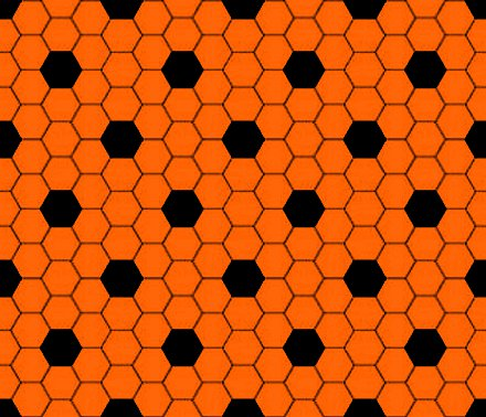Click to get the codes for this image. Orange And Black Hexagon Tile Seamless Background Pattern, Tile, Orange Background Wallpaper Image or texture free for any profile, webpage, phone, or desktop