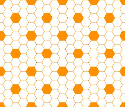 Click to get the codes for this image. Orange And White Hexagon Tile Seamless Background Pattern, Tile, Orange Background Wallpaper Image or texture free for any profile, webpage, phone, or desktop