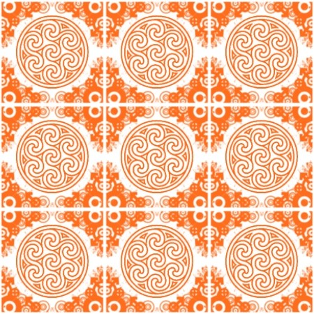 Click to get the codes for this image. Orange Ornate Circles And Squares On White, Ornate, Orange, Circles Background Wallpaper Image or texture free for any profile, webpage, phone, or desktop