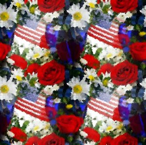 Click to get the codes for this image. Patriotic Flowers Seamless Painting, Artistic, Flowers, Patriotic Background Wallpaper Image or texture free for any profile, webpage, phone, or desktop