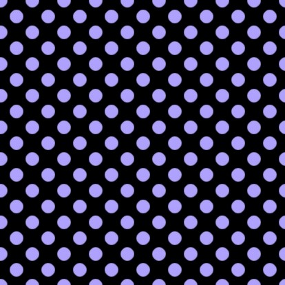 Click to get the codes for this image. Periwinkle Polkadots On Black, Polka Dots, Blue Background Wallpaper Image or texture free for any profile, webpage, phone, or desktop