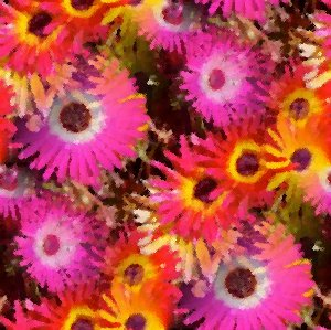 Click to get the codes for this image. Pink And Orange Daisies Seamless Painting, Artistic, Flowers Background Wallpaper Image or texture free for any profile, webpage, phone, or desktop