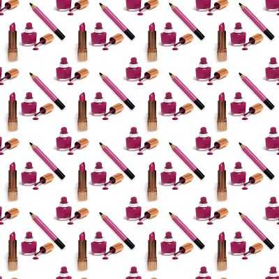 Click to get the codes for this image. Pink Lipstick Nail Polish And Eye Pencil Small, Pink, Fashion Background Wallpaper Image or texture free for any profile, webpage, phone, or desktop