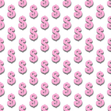 Click to get the codes for this image. Pink Dollar Signs Background Tileable, Money, Pink Background Wallpaper Image or texture free for any profile, webpage, phone, or desktop