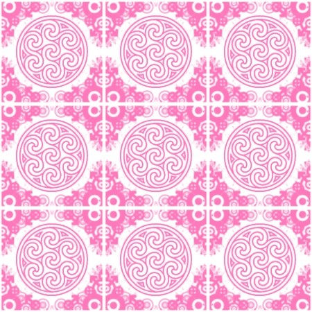 Click to get the codes for this image. Pink Ornate Circles And Squares On White, Pink, Ornate, Circles Background Wallpaper Image or texture free for any profile, webpage, phone, or desktop