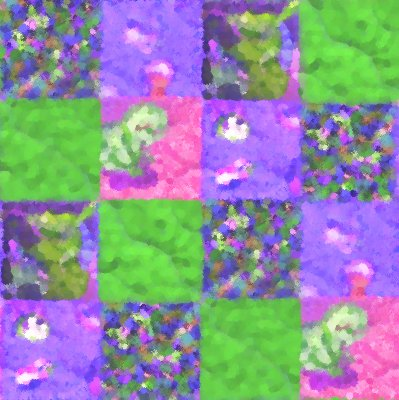 Click to get the codes for this image. Purple And Green Quilt Painting Seamless, Quilts, Cloth, Artistic Background Wallpaper Image or texture free for any profile, webpage, phone, or desktop