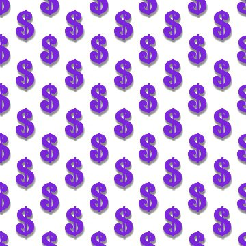 Click to get the codes for this image. Purple Dollar Signs Background Tileable, Money, Purple Background Wallpaper Image or texture free for any profile, webpage, phone, or desktop