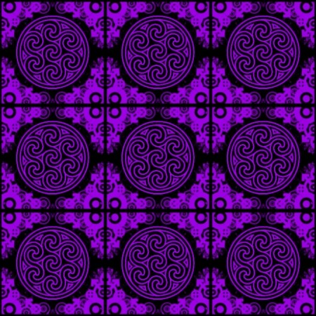 Click to get the codes for this image. Purple Ornate Circles And Squares On Black, Purple, Ornate, Circles Background Wallpaper Image or texture free for any profile, webpage, phone, or desktop