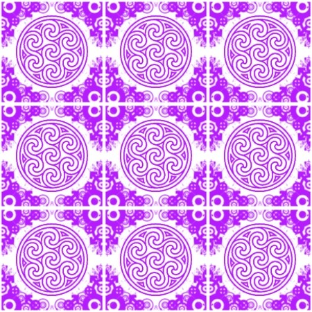Click to get the codes for this image. Purple Ornate Circles And Squares On White, Purple, Ornate, Circles Background Wallpaper Image or texture free for any profile, webpage, phone, or desktop