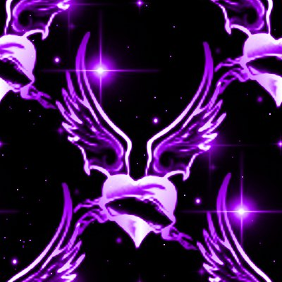 Click to get the codes for this image. Purple Winged Hearts With Stars Background Seamless, Stars, Hearts, Purple Background Wallpaper Image or texture free for any profile, webpage, phone, or desktop