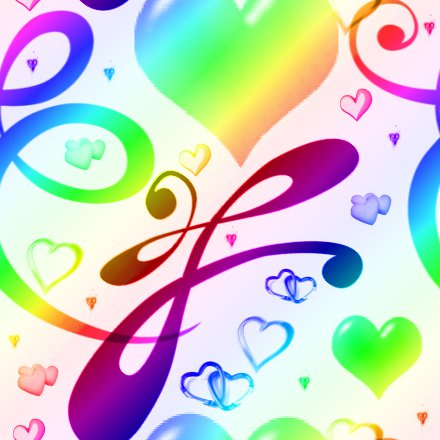 Click to get the codes for this image. Rainbow Hearts And Swirls Background Seamless, Hearts, Rainbow Background Wallpaper Image or texture free for any profile, webpage, phone, or desktop