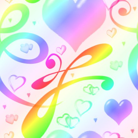 Click to get the codes for this image. Rainbow Pastel Hearts And Swirls Background Seamless, Hearts, Rainbow Background Wallpaper Image or texture free for any profile, webpage, phone, or desktop