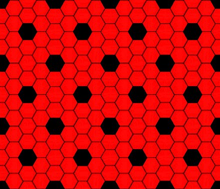 Click to get the codes for this image. Red And Black Hexagon Tile Seamless Background Pattern, Tile, Red Background Wallpaper Image or texture free for any profile, webpage, phone, or desktop