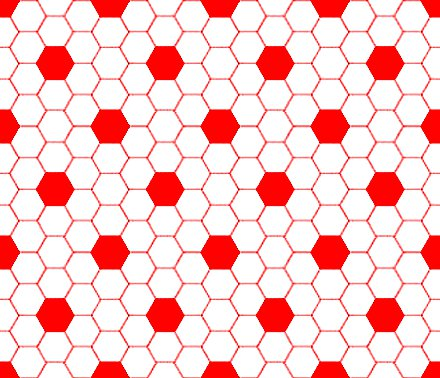 Click to get the codes for this image. Red And White Hexagon Tile Seamless Background Pattern, Tile, Red Background Wallpaper Image or texture free for any profile, webpage, phone, or desktop