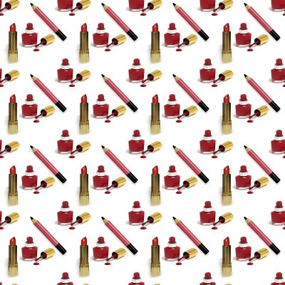 Click to get the codes for this image. Red Lipstick Nail Polish And Eye Pencil Small, Red, Fashion Background Wallpaper Image or texture free for any profile, webpage, phone, or desktop