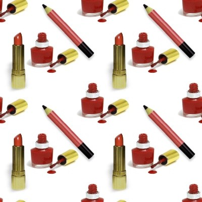 Click to get the codes for this image. Red Lipstick Nail Polish And Eye Pencill, Red, Fashion Background Wallpaper Image or texture free for any profile, webpage, phone, or desktop