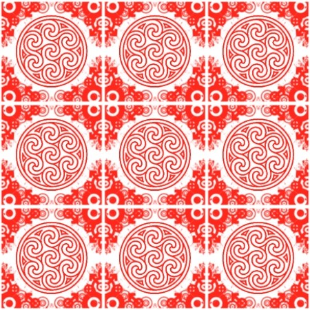Click to get the codes for this image. Red Ornate Circles And Squares On White, Red, Ornate, Circles Background Wallpaper Image or texture free for any profile, webpage, phone, or desktop
