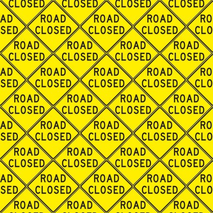 Click to get the codes for this image. Road Closed Signs Background Seamless, Street Signs, Yellow Background Wallpaper Image or texture free for any profile, webpage, phone, or desktop