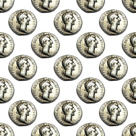 Click to get the codes for this image. Roman Coins, Money Background Wallpaper Image or texture free for any profile, webpage, phone, or desktop