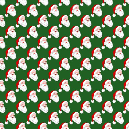 Click to get the codes for this image. Santa On Green Background Tiled, Christmas Background Wallpaper Image or texture free for any profile, webpage, phone, or desktop