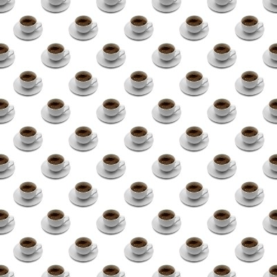 Click to get the codes for this image. Seamless Coffee Cups, Food  Drink Background Wallpaper Image or texture free for any profile, webpage, phone, or desktop