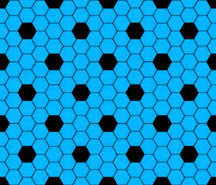 Click to get the codes for this image. Sky Blue And Black Hexagon Tile Seamless Background Pattern, Tile, Blue Background Wallpaper Image or texture free for any profile, webpage, phone, or desktop