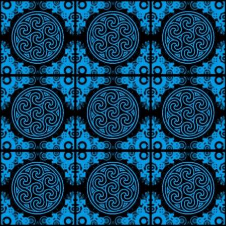 Click to get the codes for this image. Sky Blue Ornate Circles And Squares On Black, Blue, Ornate, Circles Background Wallpaper Image or texture free for any profile, webpage, phone, or desktop