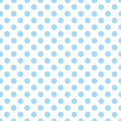 Sky Blue Polkadots On White