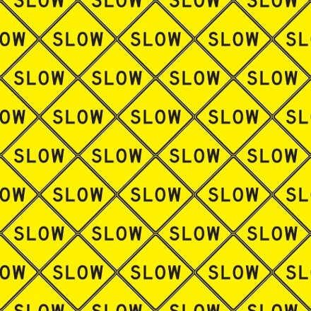 Click to get the codes for this image. Slow Signs Background Seamless, Street Signs, Yellow Background Wallpaper Image or texture free for any profile, webpage, phone, or desktop