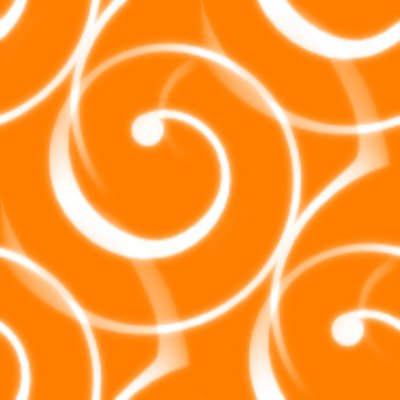 Click to get the codes for this image. Spiral Squiggles On Orange Seamless Wallpaper, Spirals, Orange Background Wallpaper Image or texture free for any profile, webpage, phone, or desktop