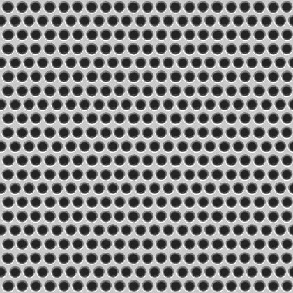 Click to get the codes for this image. Steel Metal Grate With Circular Holes Background Seamless, Metallic, Gray, Silver Background Wallpaper Image or texture free for any profile, webpage, phone, or desktop