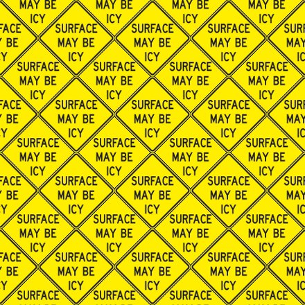 Click to get the codes for this image. Surface May Be Icy Signs Background Seamless, Street Signs, Yellow Background Wallpaper Image or texture free for any profile, webpage, phone, or desktop