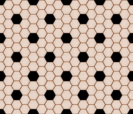 Click to get the codes for this image. Tan And Black Hexagon Tile Seamless Background Pattern, Tile, Brown Background Wallpaper Image or texture free for any profile, webpage, phone, or desktop