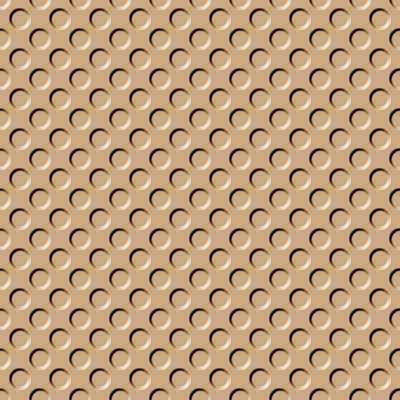 Click to get the codes for this image. Tan Indented Circles Background Seamless, Beveled and Indented, Circles, Brown Background Wallpaper Image or texture free for any profile, webpage, phone, or desktop