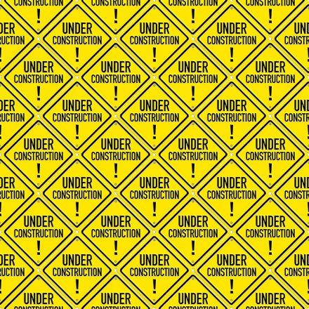 Click to get the codes for this image. Under Construction Signs Background Seamless, Street Signs, Yellow Background Wallpaper Image or texture free for any profile, webpage, phone, or desktop
