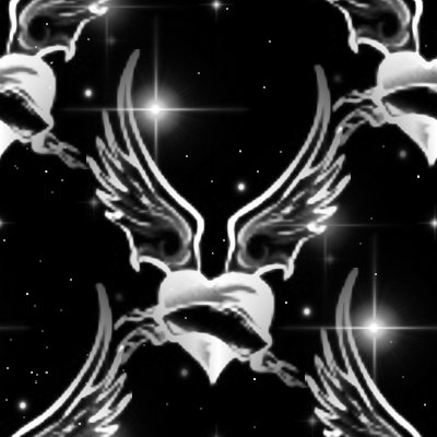 Click to get the codes for this image. Winged Hearts With Stars Background Seamless, Stars, Hearts, Dark Background Wallpaper Image or texture free for any profile, webpage, phone, or desktop