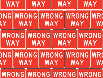 Click to get the codes for this image. Wrong Way Signs Background Seamless, Street Signs, Red Background Wallpaper Image or texture free for any profile, webpage, phone, or desktop