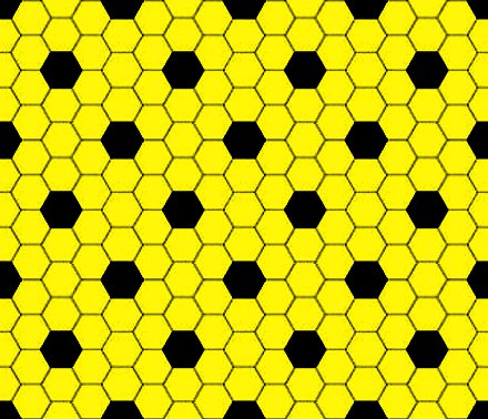 Click to get the codes for this image. Yellow And Black Hexagon Tile Seamless Background Pattern, Tile, Yellow Background Wallpaper Image or texture free for any profile, webpage, phone, or desktop