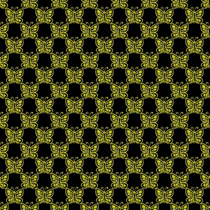 Click to get the codes for this image. Yellow Butterflies On Black, Yellow, Butterflies Background Wallpaper Image or texture free for any profile, webpage, phone, or desktop