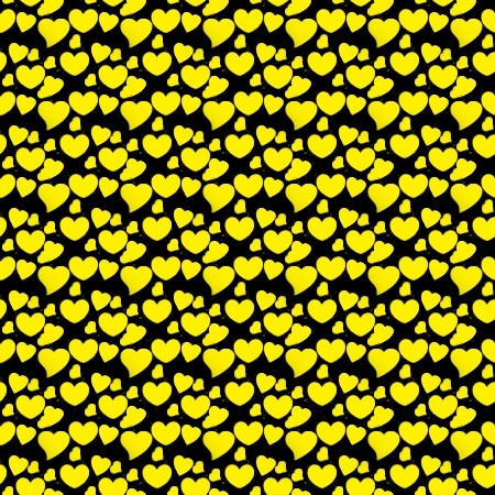 Click to get the codes for this image. Yellow Hearts On Black, Yellow, Hearts Background Wallpaper Image or texture free for any profile, webpage, phone, or desktop