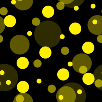 Click to get the codes for this image. Yellow On Black Random Circle Dots Seamless Background, Circles, Polka Dots, Yellow Background Wallpaper Image or texture free for any profile, webpage, phone, or desktop