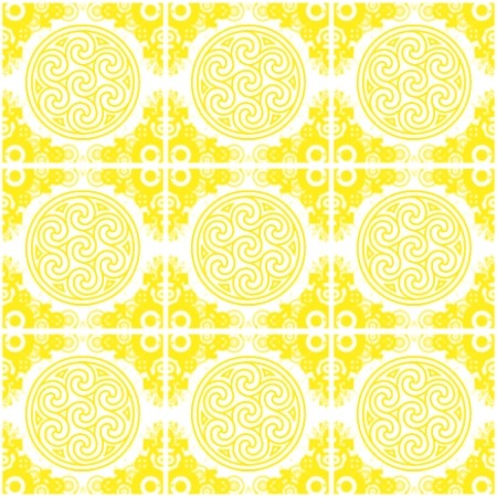 Click to get the codes for this image. Yellow Ornate Circles And Squares On White, Yellow, Ornate, Circles Background Wallpaper Image or texture free for any profile, webpage, phone, or desktop