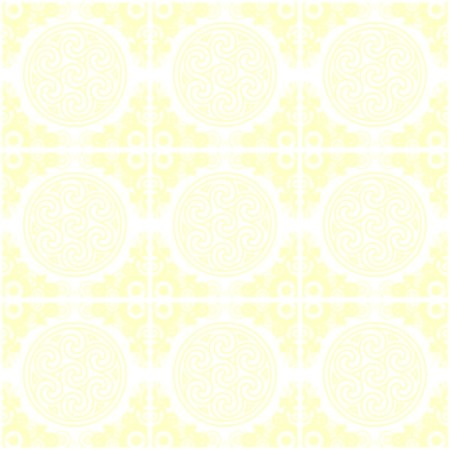 Click to get the codes for this image. Yellow Ornate Circles And Squares Watermark, Yellow, Ornate, Circles, Watermark Background Wallpaper Image or texture free for any profile, webpage, phone, or desktop