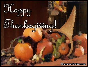 Happy Thanksgiving Cornucopia Image: Graphic Comment Meme ...