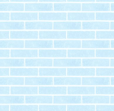 Baby Blue Bricks Wall Seamless Background Texture