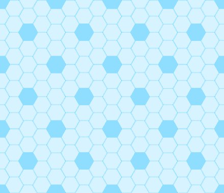Baby Blue Hexagon Tile Seamless Background Pattern