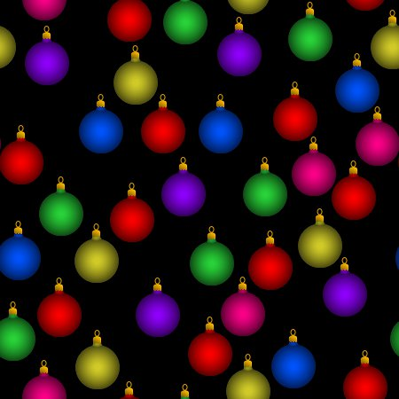 Christmas Ornaments Random Pattern Seamless Background Or